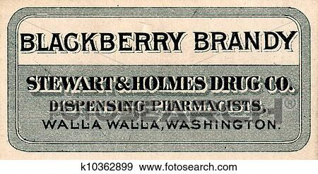 Stock Illustration Of Vintage Medicine Label K10362899