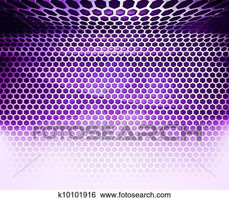 Stock Images Of Violet Hex Grid Abstract Background K10101916