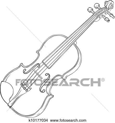 Violino Desenho Clipart K10177034 Fotosearch