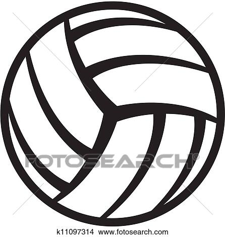 clipart of volleyball ball k11097314 search clip art illustration rh fotosearch com volleyball graphic tees justice volleyball graphics or clip art