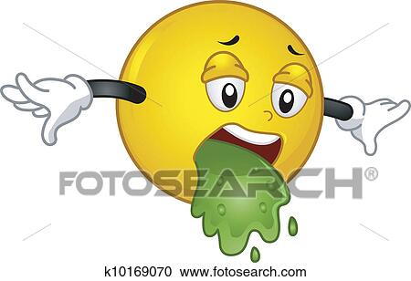 Vomiting Smiley Clipart K10169070 Fotosearch