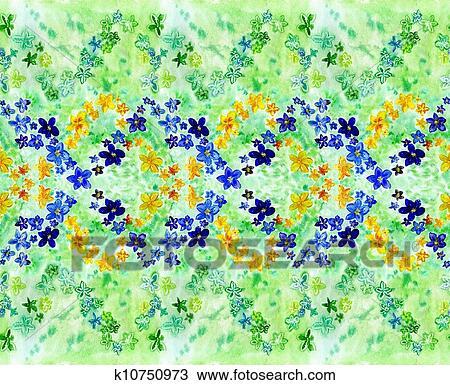 Stock photo of watercolor dark blue and yellow flowers on a green stock photo watercolor dark blue and yellow flowers on a green background fotosearch mightylinksfo