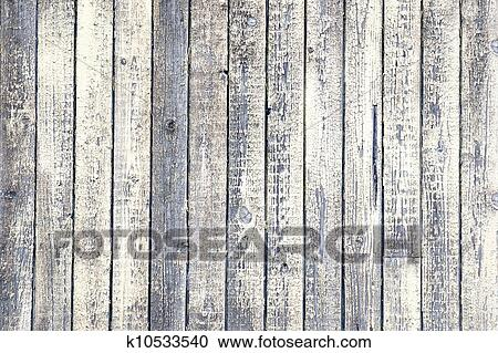 Background Of Weathered Wood With Ling Old White Paint