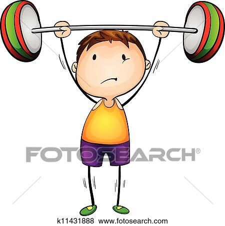clip art of weight lifter k11431888 search clipart illustration rh fotosearch com weightlifting clipart free weightlifting clipart black and white