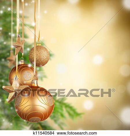 Weihnachtsmotive Zum Kopieren.Weihnachtsmotive Mit Goldenes Glas Kugeln Und Frei Raum Für Text Bild