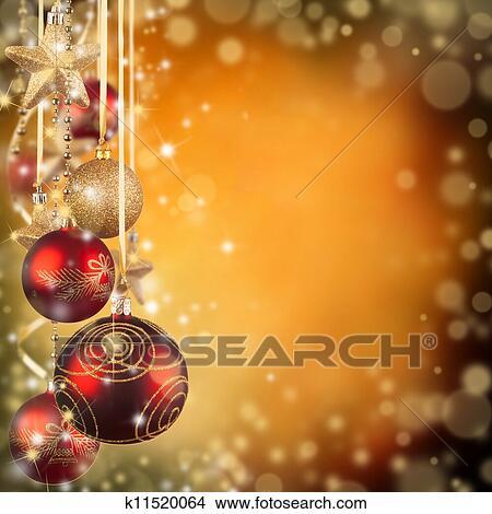 Weihnachtsmotive Zum Kopieren.Weihnachtsmotive Mit Rot Glas Kugeln Und Frei Raum Für Text Bild