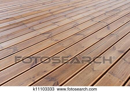 Stock Photo Of Wet Wood Floor Terrace K11103333 Search Stock