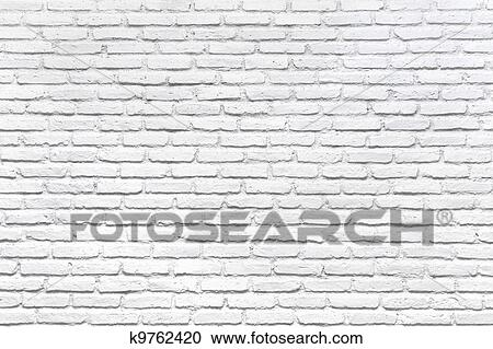Stock Photography Of White Brick Wall For A Background K9762420