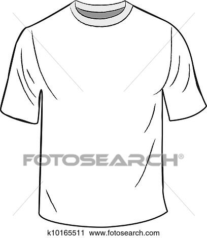 clipart of white t shirt design template k10165511 search clip art rh fotosearch com Popular T-Shirts Clip Art for Making T-Shirt