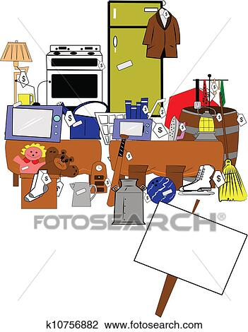 clipart yard et brocante domicile fond k10756882 recherchez des clip arts des. Black Bedroom Furniture Sets. Home Design Ideas