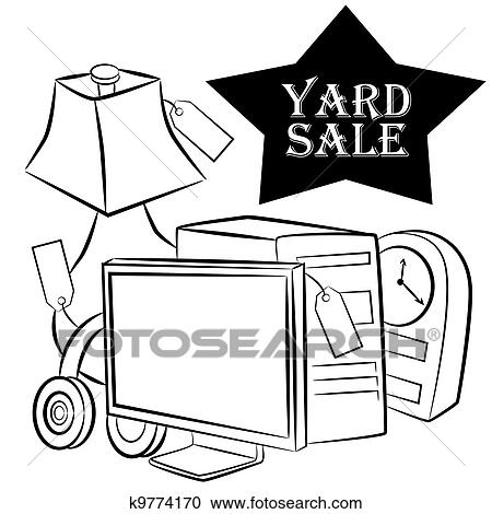 Clipart Of Yard Sale Items K9774170