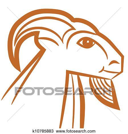 Clipart Of Zodiac Sign Capricorn K10785883 Search Clip Art