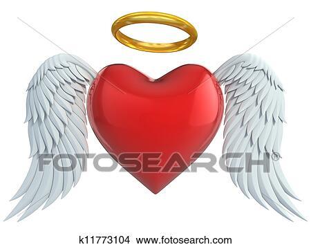 ángel Corazón Con Alas Dibujos K11773104