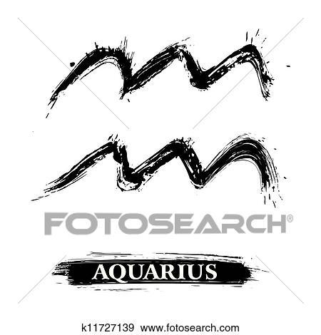 برج الدلو رمز Clip Art K11727139 Fotosearch