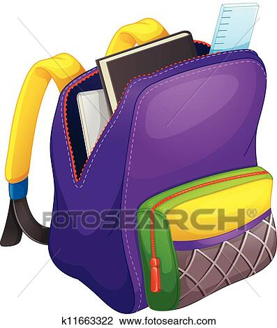 حقيبة مدرسية Clipart K11663322 Fotosearch