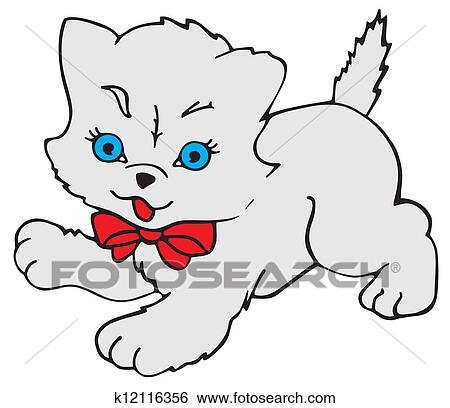 قط كيتي Clip Art K12116356 Fotosearch