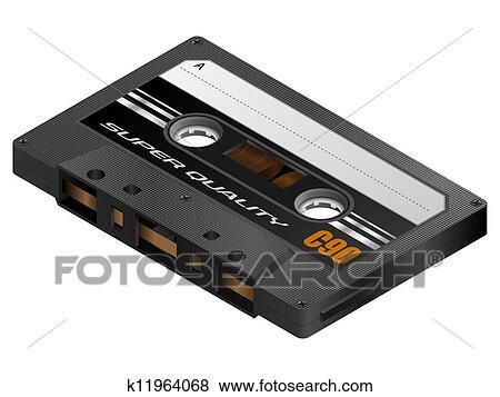 カセットテープ クリップアート K11964068 Fotosearch