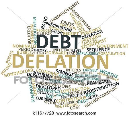 イラスト - 負債, デフレーショ...