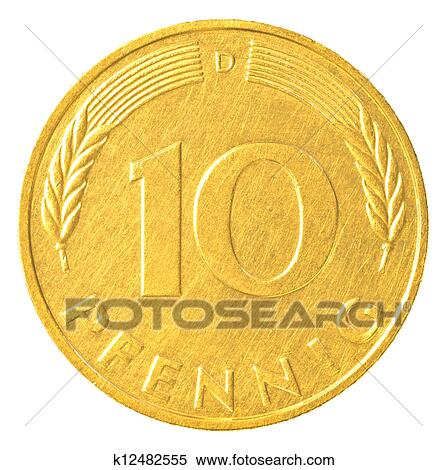 Stock Image Of 10 German Mark Pfennig Coin K12482555 Search Stock