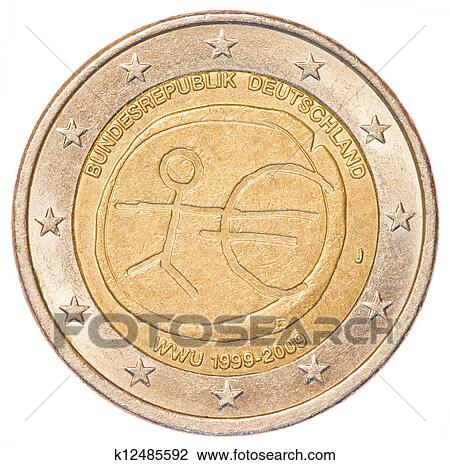 Stock Photo 2 Euro Coin Germany Fotosearch Search Photography Print