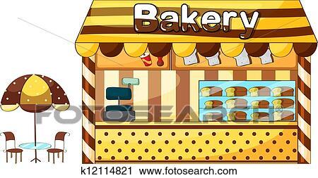 A パン屋 店 クリップアート 切り張り イラスト 絵画 集 K Fotosearch