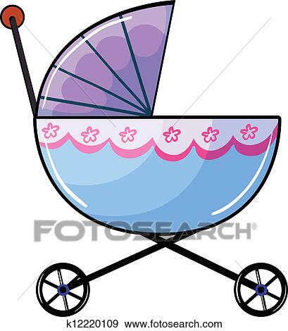 clip art of a baby buggy k12220109 search clipart illustration rh fotosearch com