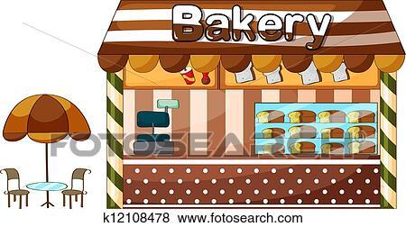 A Bakery Shop Clip Art K12108478 Fotosearch