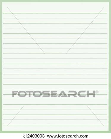 A Sheet Of Green Color Lined Paper Drawing K12403003