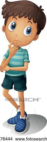 clipart of a thinking boy k12176444 search clip art illustration rh fotosearch com animated boy thinking clipart boy thinking clipart png