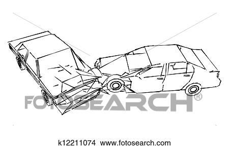 Dessins accident voiture k12211074 recherche de clip arts d 39 illustrations et d 39 images - Coloriage cars accident ...