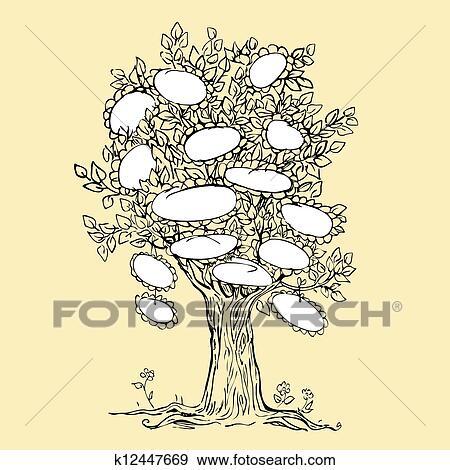 Disegno di albero genealogico vuoto