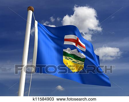 drawing of alberta flag canada k11584903 search clipart