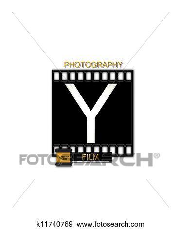 Stock Illustration Of Alphabet Camera Film Y K11740769 Search
