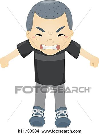 Angry Kid Clipart K11730384 Fotosearch