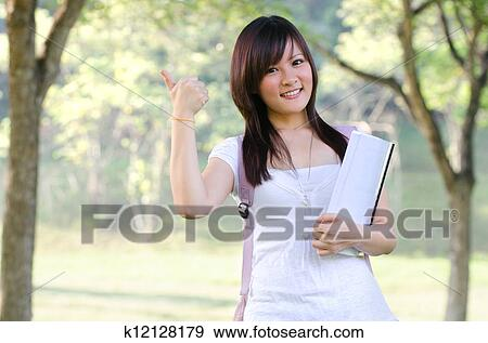 Asian college female model