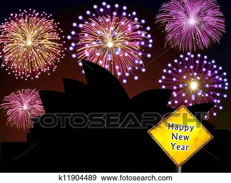 stock photograph australia fireworks happy new year fotosearch search stock photography posters