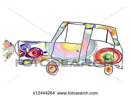 Disegni Bambini Disegno Di Il Automobile K12444264 Cerca