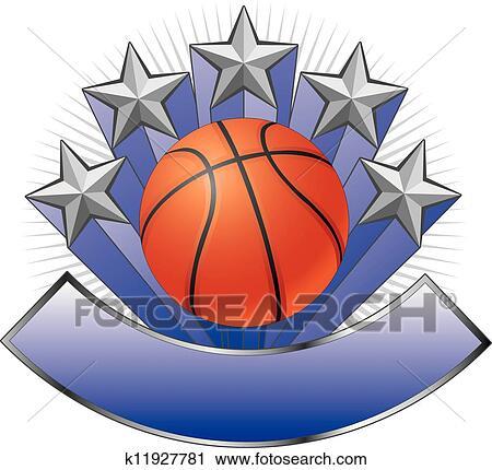 Clipart Of Basketball Design Emblem Award K11927781 Search Clip