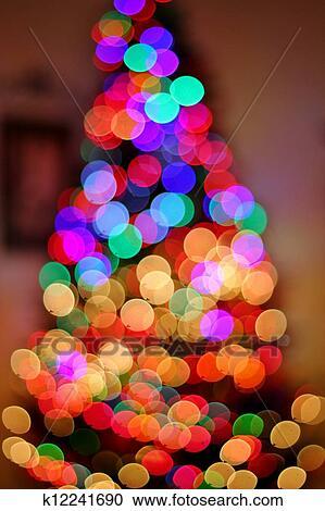 stock photography blurred christmas tree lights fotosearch search stock photos pictures - Blurred Christmas Lights