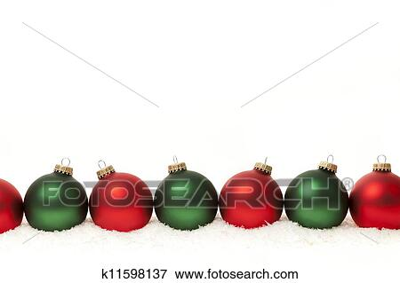 picture border of green and red christmas balls fotosearch search stock photography