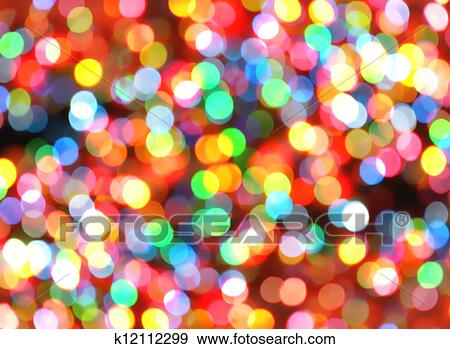 Colorful Christmas Lights Background.Bright Colorful Christmas Lights Background Stock Photo