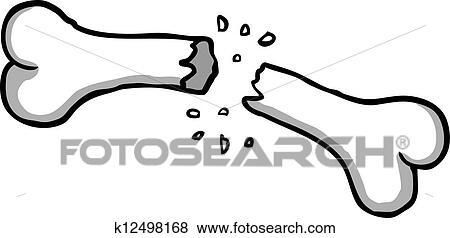 clip art of broken bone k12498168 search clipart illustration rh fotosearch com bone fracture clipart Broken Hip Clip Art