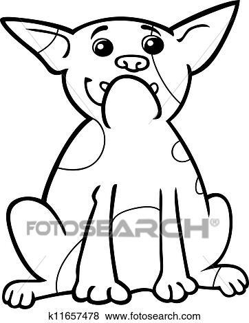 Clip Art - bulldog francés, caricatura, para, colorido k11657478 ...