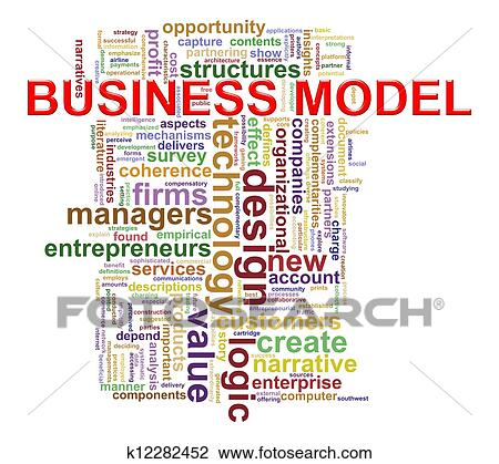 clip art of business model word tags k12282452 search clipart