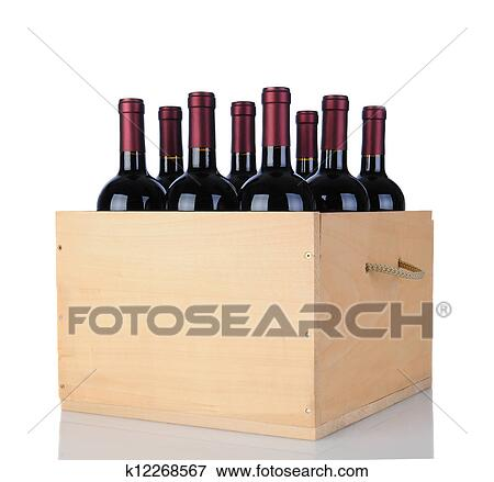 Picture Of Cabernet Wine Bottles In Wood Crate K12268567 Search