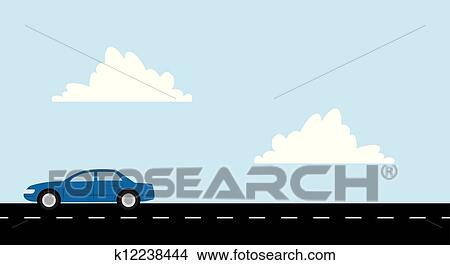 Car Road Clipart K12238444 Fotosearch