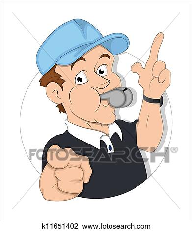 Cartoon Referee Illustration Clipart K11651402 Fotosearch