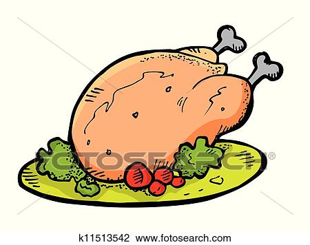clipart of chicken meat doodle k11513542 search clip art rh fotosearch com clipart of chicken wings clip art of chicken goujons