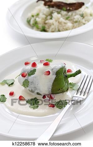 Chile En Nogada Cocina Mexicana Coleccion De Foto K12258678 Fotosearch