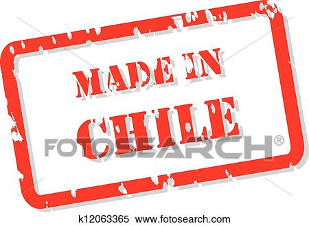 Clipart Of Chile Stamp K12063365